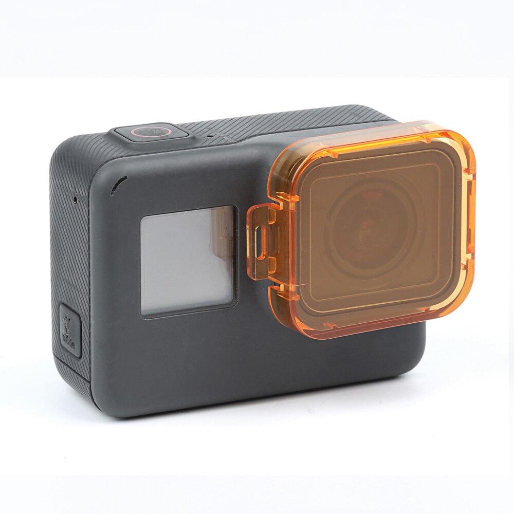 AOLVO Compatible pour GoPro Hero 7/Noir Hero 6/Hero 5/Coque Cadre /à Armature en Alliage daluminium Creux Camera Case bo/îtier CNC Coque de Protection Cage avec Filtre UV 52/mm et Porte arri/ère