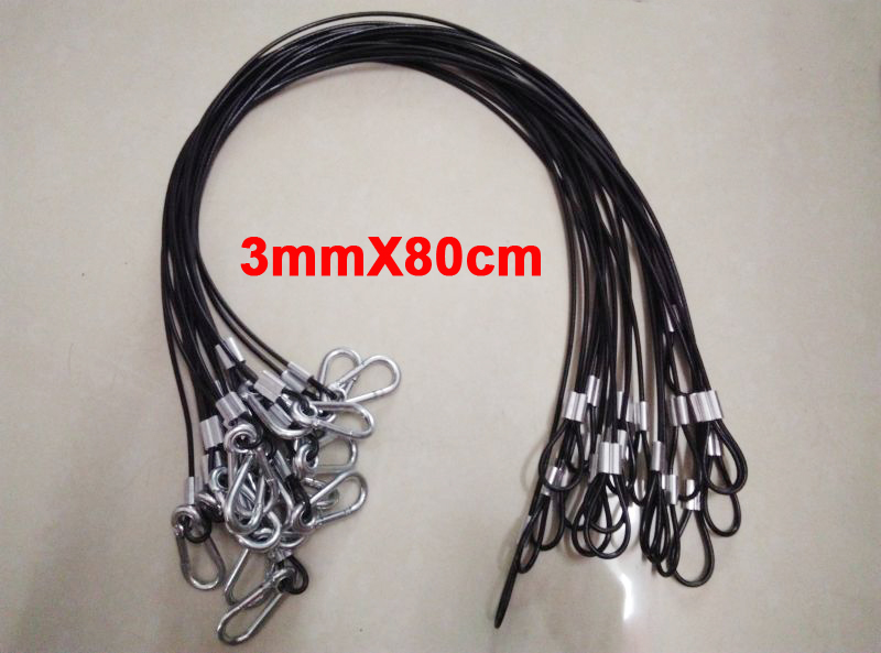 20pcs Black cover safety cable, steel wire insurance of stage lights