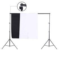 Fotoğraf Stüdyosu Kiti Set saklama çantası ile Siyah Beyaz Nonwoven Arka Planında Zemin Standı ve Mini Klipler Kamera fotoğraf a...