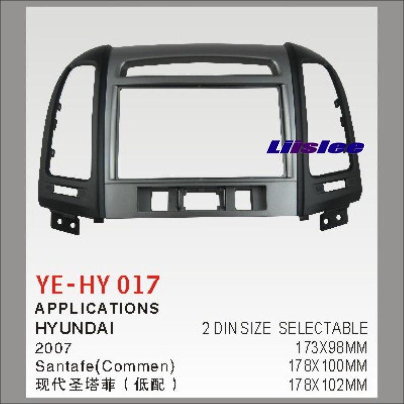 ФОТО Car Refitting DVD GPS NAV Frame For Hyundai Santafe(Luxry)2007 2 DIN CD DVD Panel Dash Board Kit / Radio Frame Audio ABS Fascia