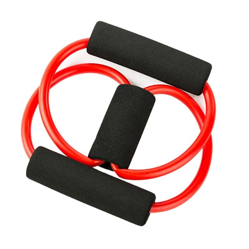 <+>  8-слово натяжной трос грудной клетки йога тяга веревка фитнес тянуть силу Пилатес сопротивление пояс ①