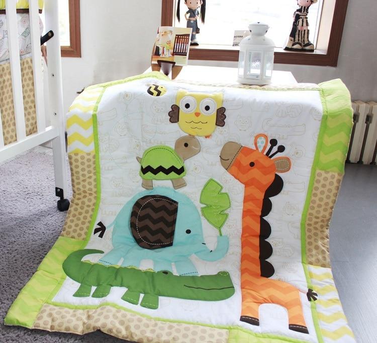 1 шт., Хлопковое одеяло для детской кроватки, 33*42, для мальчиков и девочек, Универсальное Детское одеяло с мультяшным принтом, детское одеяло, одеяла для кроватки, детские вещи для новорожденных - Цвет: comforter only8