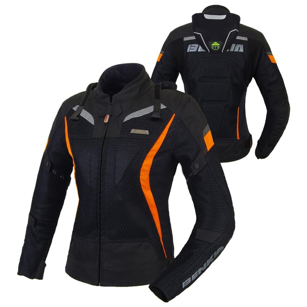 BENKIA font b Women b font Motorcycle Jacket Motocross Racing Jackets Ropa Moto Jaqueta Motoqueiro Protective