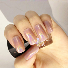 Born Pretty Holographic Holo Glitter Nail Polish Varnish Nude Color Hologram Effect Polish BP Nail Glitter Decoration