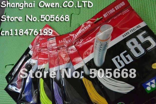 Special offer 9.9$ (Assorted color) BG85 Badminton strings,CH version,badminton strings