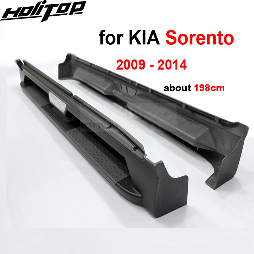 New arrival for KIA Sorento running board side step bar nerf bar,high quality factory product,2009 2010 2011 2012 2013 2014 high quality side step bar running boards for mitsubishi outlander 2013 2014 2015