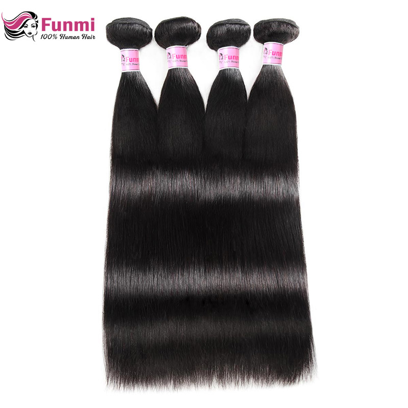 Peruvian Straight Hair Bundles 100% Unprocessed Peruvian Virgin Hair Straight Hair Weave Bundles Funmi Human Hair 1/3/4 Bundles