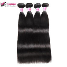 Peruvian Straight Hair Bundles 100% Unprocessed Peruvian Virgin Hair Straight Hair Weave Bundles Funmi Human Hair 1/3/4 Bundles(China)