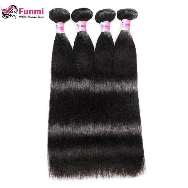 Peruvian Straight Hair Bundles 100% Unprocessed Peruvian Virgin Hair Straight Hair Weave Bundles Funmi Human Hair 1/3/4 Bundles
