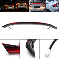 Red Light LED ABS Spoiler Type Rear Brake Lamp LED Tail Light for JDM Style For Honda For Civic 2016 2017?Auto Part Accessories