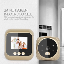 New 2.4 inch Digital Door Doorbell LCD Color Screen 135 Degree Night Vision video peephole Viewer Doorbell Outdoor Door Bell