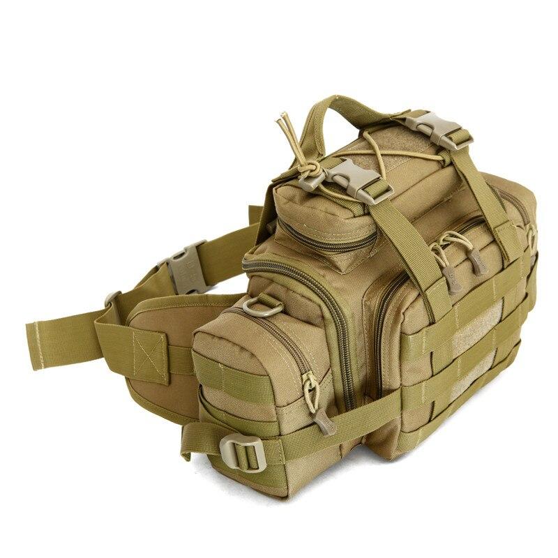 Military enthusiasts nylon waist bag chest bag 3 p magic camera pocket oblique satchel multi-purpose mens bags travel bag