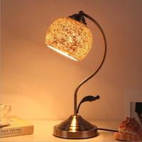 Desk lamp living room bedroom vintage creative desk lamp Mosaic style desk lamp American country restoring ancient ways glass