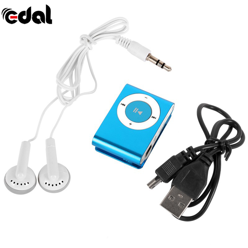 Protable Mini USB Mp3 Music Player Mp3 Player Support Micro TFCard Slot MP3 Sport Player USB Port With Earphone 8 Colors