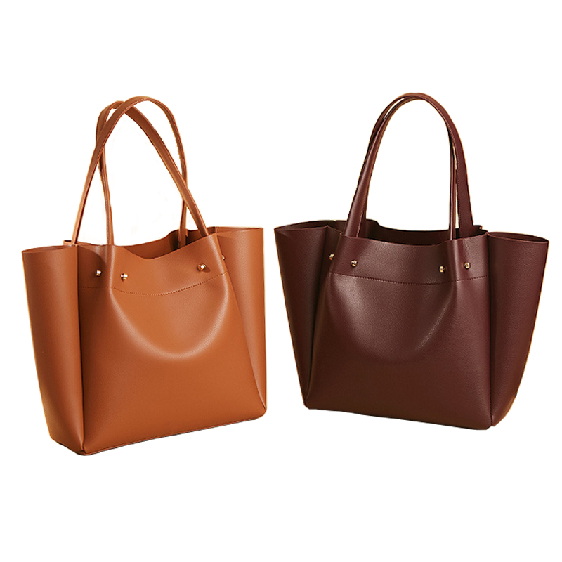 New Women large shoulder bag famous brand Simple handbag female high quality PU tote fashion top handle bag big trunk for Lady