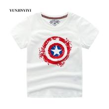 Short Sleeve T-Shirt Boy Superman Batman Captain America Summer Child Baby Children Top