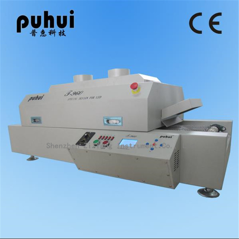 T-960 LED Wave reflow Soldering Machine SMT Reflow Oven infrared IC Heating Length 960mm Max PCB Board Length 300MM