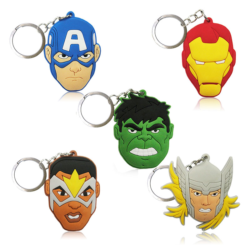 avengers keychain thor captain america hulk spiderman deadpool
