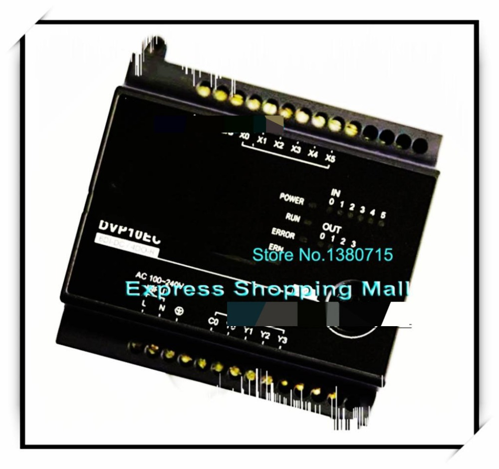 New Original DVP10EC00R3 PLC EC3 series 100-240VAC 6DI 4DO Relay output new original dvp24ec00t3 plc ec3 series 100 240vac 12di 12do transistor output