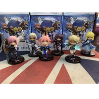 Fate Stay Night Saber Scathach Mash Kyrielight anime action toys figrue model 9cm 6pcs/set cartoon Nendoroid gift