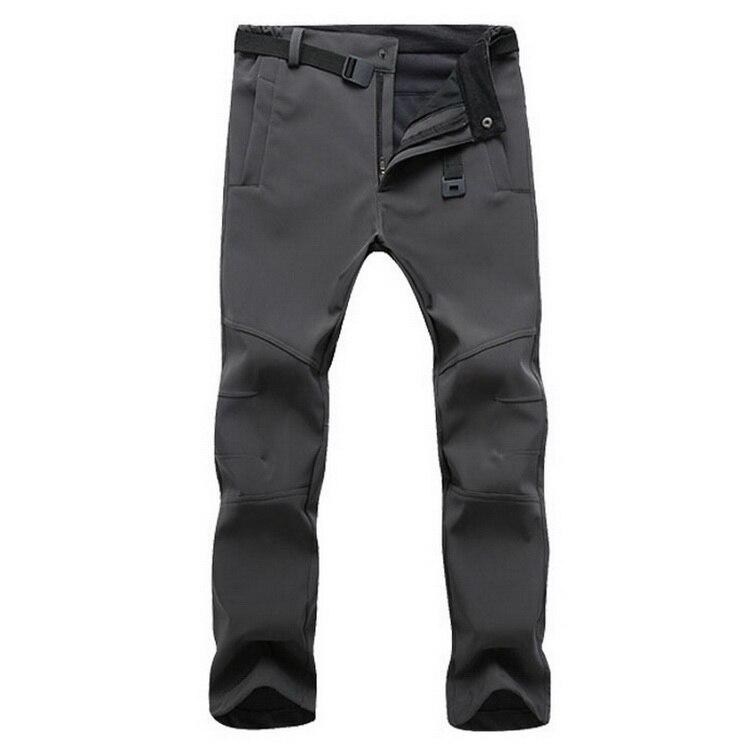 Stretch Waterproof Pants Men Casual Winter Thick Warm Fleece Shark Skin Trousers Male Windbreaker Sweatpants Mens Tactical Pants