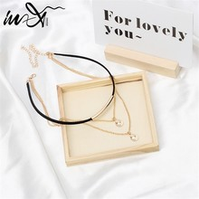 In-X Multi layer Pendant Necklaces Shell Choker Necklace for Women Gold Chain Tiny Necklace Bohemian Chocker Necklace Jewelry(China)