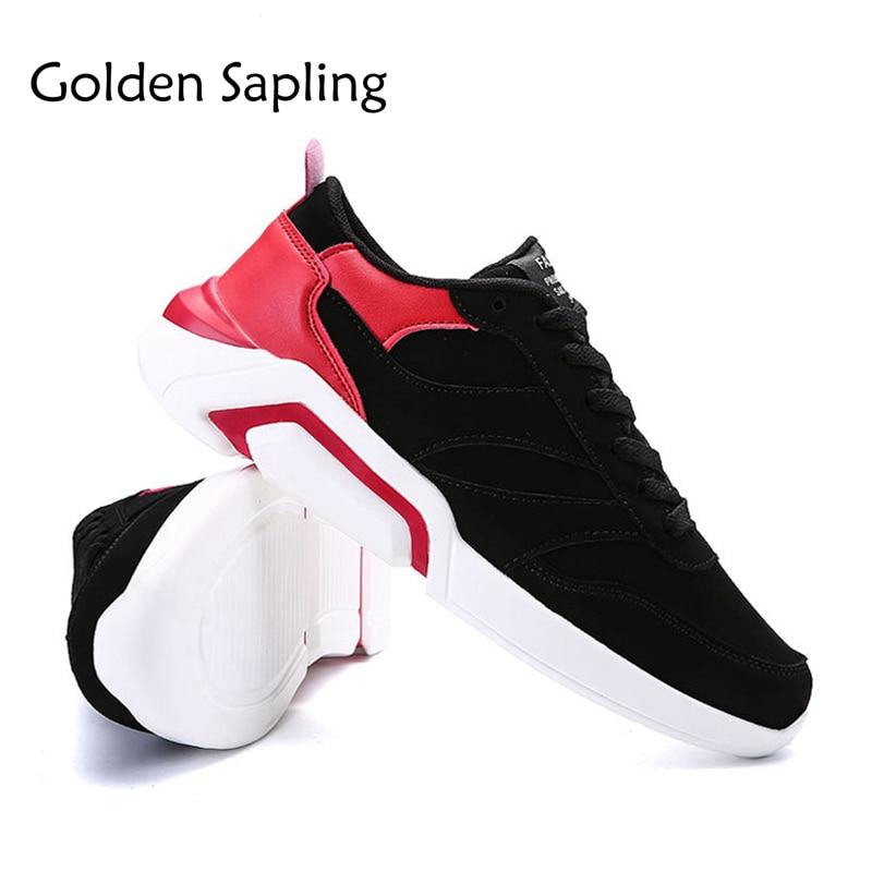 Golden Sapling Black Leather Man Sneakers for Sport Mens Running Shoes Men Rubber Sole Basket Mens Sneakers Running Sport Shoes