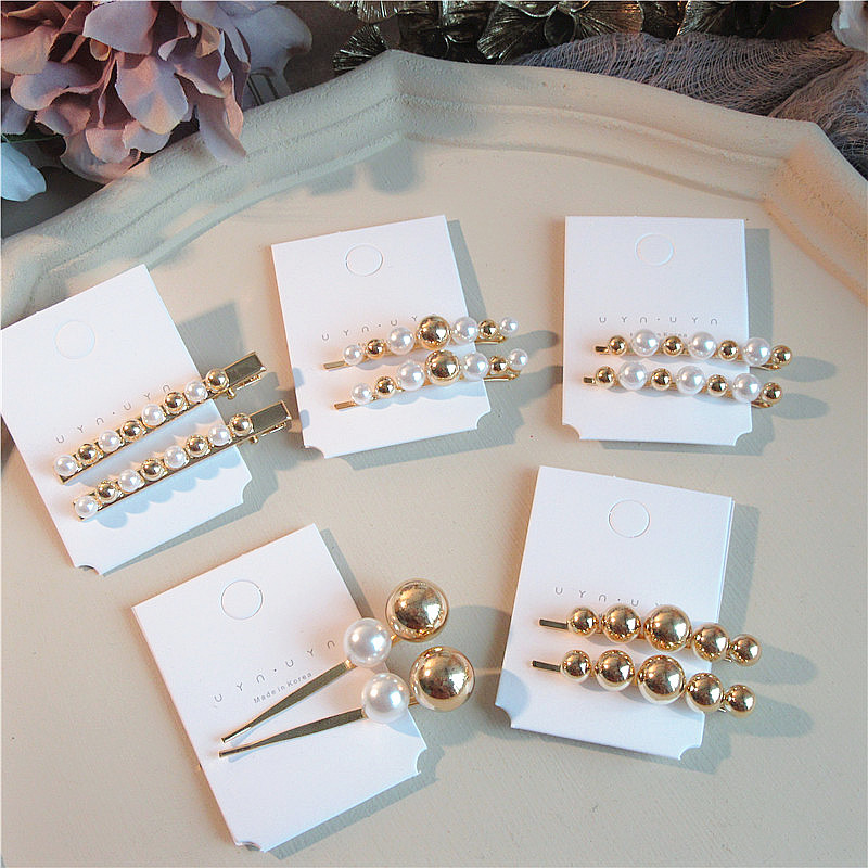 HZ 2019 Vintage Imitation Pearls Hairpins Minimalist Alloy Hair Clip Barrette   Headwear   Hair Grip Hair Accessories For Women