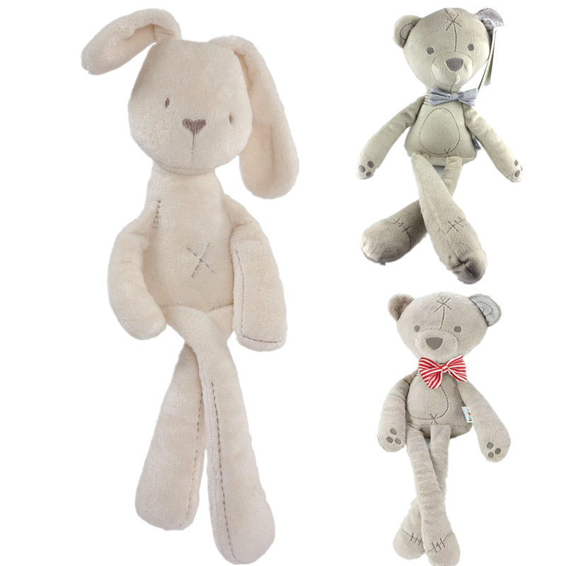 Cute Baby Plush Rabbit Doll Soft Stuffed Animal Bear Toys Easter Children Bunny Sleeping Mate Baby Toy Birthday Gift For Infants