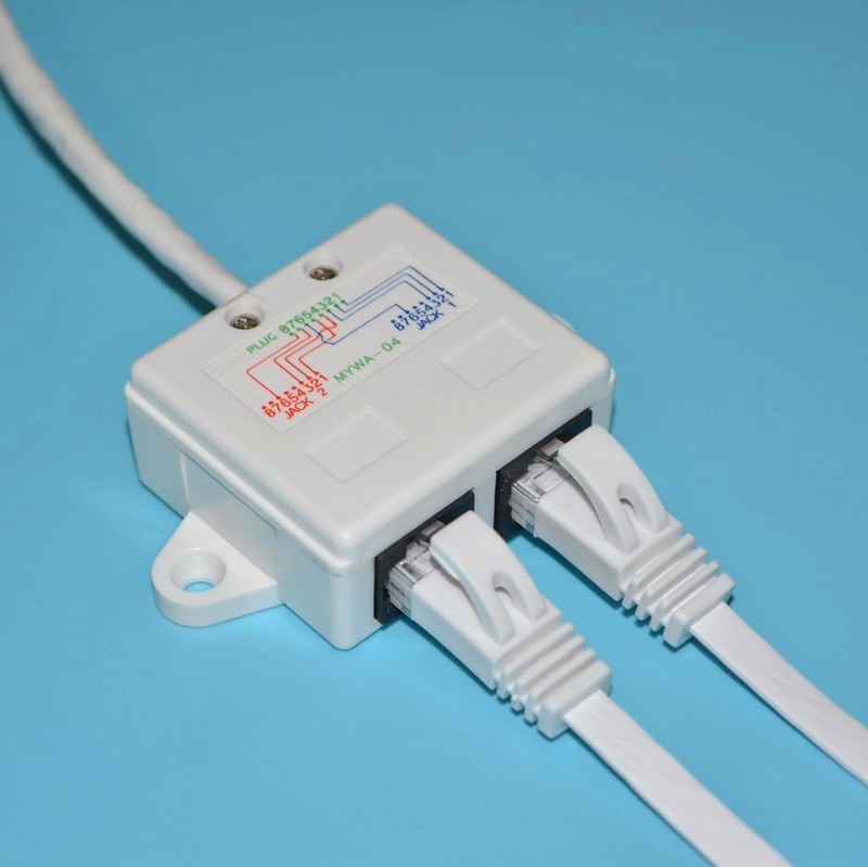 Ethernet Extension Cable Network Splitter RJ45 Connector 4578 to ...