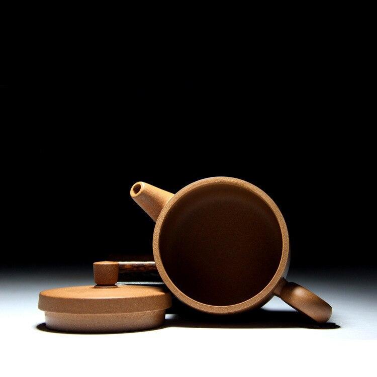 Célèbre famille fait à la main qualité brut Mine pente boue Hanwa anneau violet sable Pot Kungfu Teaware Set cadeau personnalisation - 3