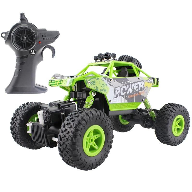 RC автомобилей 2.4 г рок-гусеничный автомобиль 4 WD Monster Truck 1:18 Внедорожник Багги электронная модель игрушки