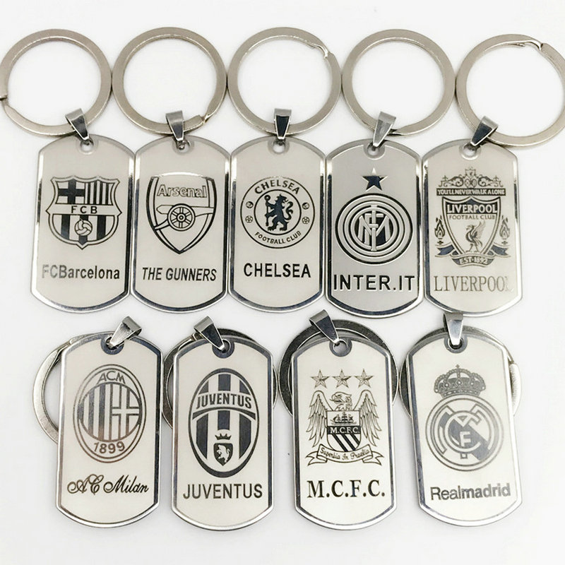 Football Club Keychain Chelsea Metal Keyring Europe's Football leagues Key Chain Bag keychains Car Pendant gift for men