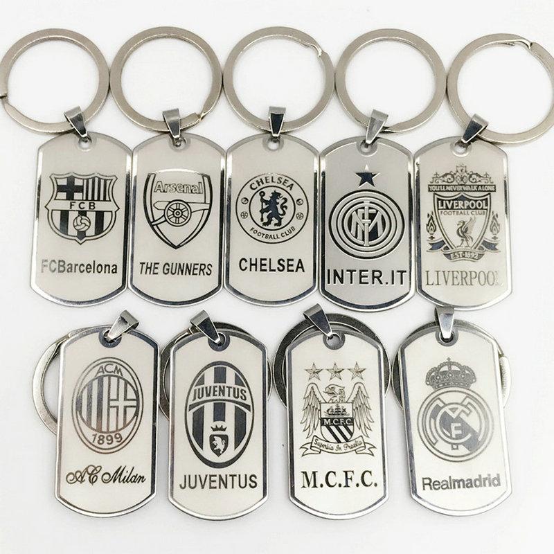 цена на Football Club Keychain Chelsea Metal Keyring Europe's Football leagues Key Chain Bag keychains Car Pendant gift for men