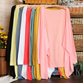 Otoño Invierno Nueva Señoras Prendas de Punto Capa de la Rebeca Ocasional Flojo de Manga Larga Recortada Feminina blusa Blusa Camisa Más del Tamaño