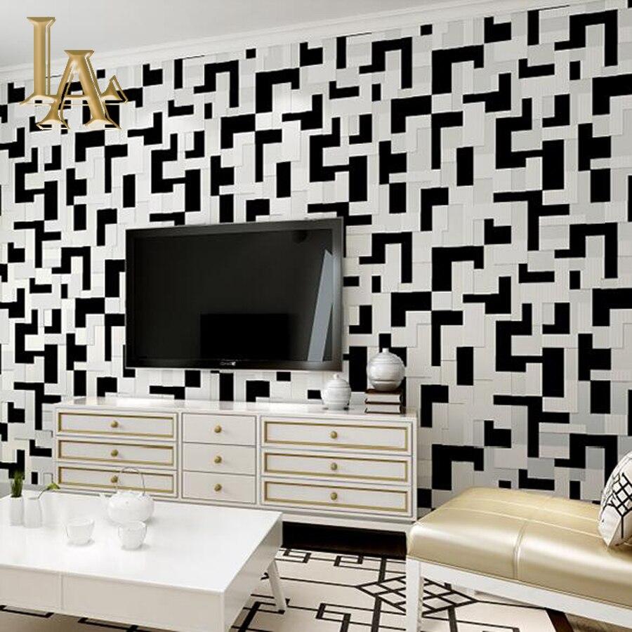 Mode Geometric Pink Hitam Dan Putih Mosaik 3D Wallpaper Untuk