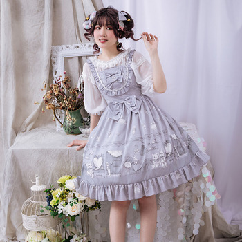 Free Sale Shipping 2019 New Girl's Room Original Lolita Dress Lace Agaric Jsk Condole Belt