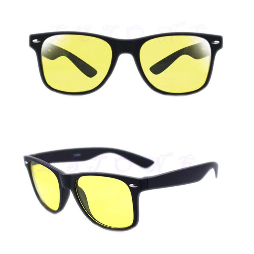 1PC Classic Style Unisex Women Men Yellow Lenses Night-Vision Glasses Driving Glasses