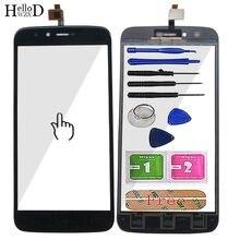Painel touchscreen 5.5 para homtom ht50 ht, ferramenta adesiva sensor de vidro frontal de toque digitalizador 50 toalhetes