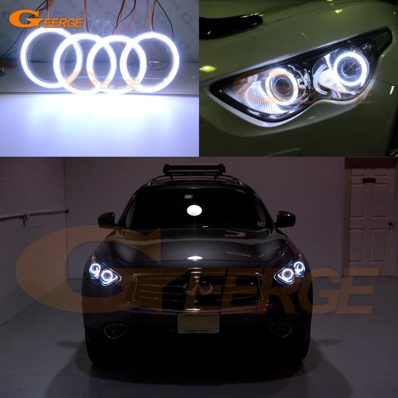 For Infiniti QX70 FX35 FX37 FX50 2009-2017 Excellent Ultra bright illumination COB led angel eyes kit halo rings