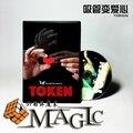 2016 Nuevas Llegadas Token (DVD y Truco)-Trick, Magia de Escenario, magia de cerca, Magia con Cartas apoyos, Diversión, Ilusión, mental, magia de la calle