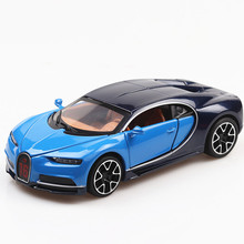 1:32 Bugatti Veyron Sound and light belt pull-back vehicle simulation alloy car model crafts decoration collection toy tools