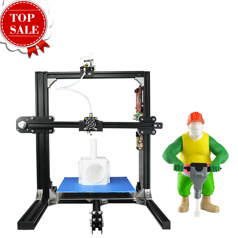2017 Hot Selling DIY Model Digital 3D Printer High Precision Filament Auto Feeding Metal Frame Dual Nozzle heads Education Use