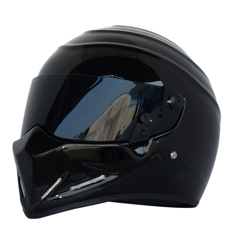 DOT Approved Motorcycle Helmet Motorcycle Cool Black Full Face Riding Helmet Motorbike Road Racing Helmet For Men And Women цена