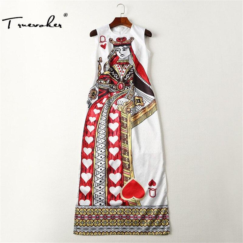 Truevoker Imprimé Haute De Multicolore Manches Roi Droite Designer Robe Vintage Split Sans Mi mollet Qualité Femmes 29HIYWED
