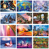 12 Types Jigsaw Puzzles For Adults 1000 Pieces Cartoon Landscape Parent Child Interactive Games Puzzle Children