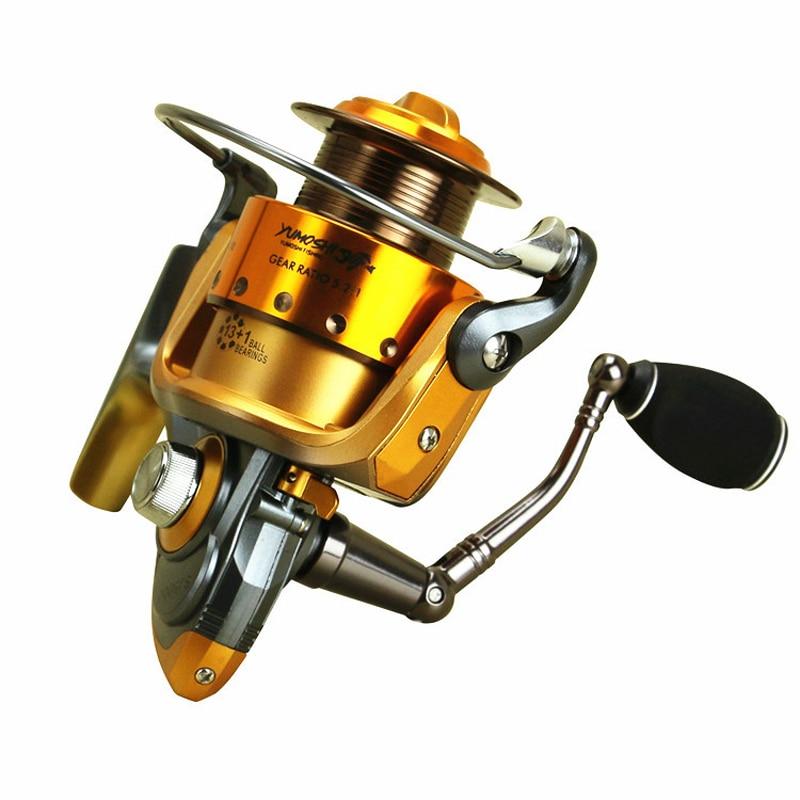 New Arrival Wheels Fish Spinning Reel 13+1 Ball Bearing Fishing Metallic Spool Accessories SJ2000-7000 Series Portable FishTool