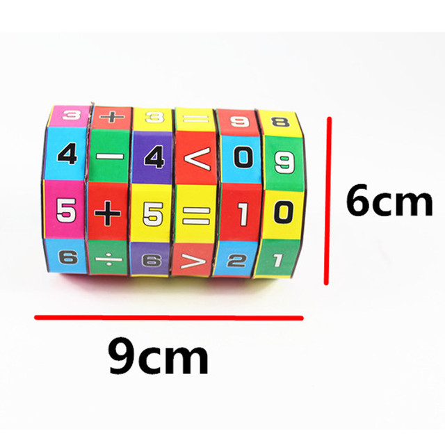 New Children Educational Puzzle Game Toys Children Intelligent Digital Cube Math Kids Mathematics Numbers Magic Cube Toy #H0.61