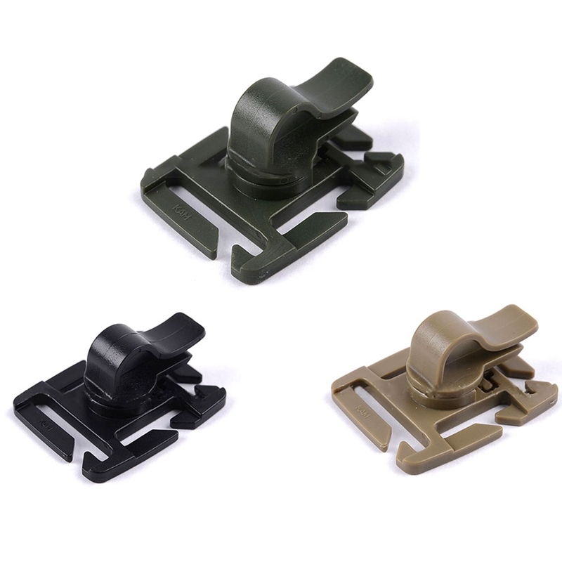 3PCS Drinking Tube Clip Rotatable Molle Hydration Bladder Drinking Tube Trap Hose Webbing Clip Molle Fits for Camelbak