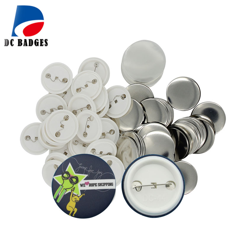 Free Shipping 1-3/4 44mm 5000sets Pin Button Badge Material,Blank button parts supply fast free shipping discount 75mm 100 sets professional badge button maker pin back pinback button supply materials